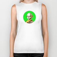 mozart Biker Tanks featuring Mozart Kugel Green by Marko Köppe
