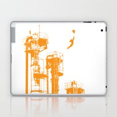 Factory Jump (orange) Laptop & iPad Skin
