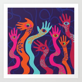 The Hands have Eyes Art Print