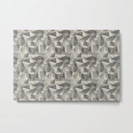 Abstract Geometrical Triangle Patterns 3 Benjamin Moore 2019 Trending Color Balboa Mist Light Pastel Metal Print
