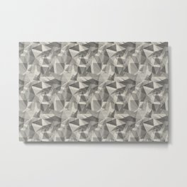 Abstract Geometrical Triangle Patterns 3 Benjamin Moore 2019 Trending Color Balboa Mist Light Pastel Metal Print