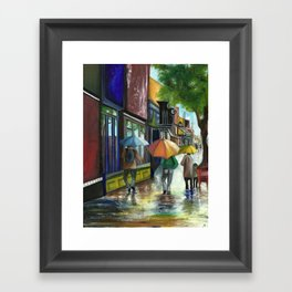 Have you ever seen it rain, on a sunny day Framed Art Print