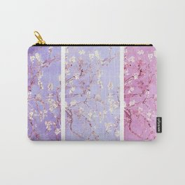 Vincent Van Gogh : Almond Blossoms Lavender Panel Art Carry-All Pouch