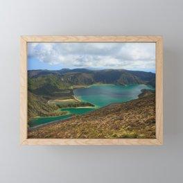 Lake in Azores islands Framed Mini Art Print