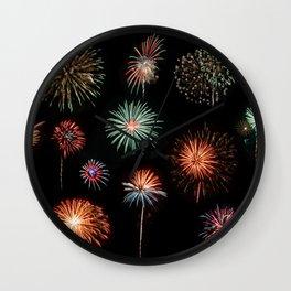 Fireworks Extravaganza Wall Clock