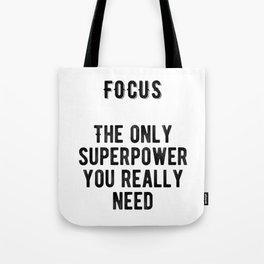 Motivational - Focus Tote Bag