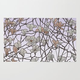 pattern of branches in pastel colors 2 . art Rug