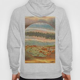 Rowing boat on the shore Hoody