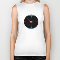 nasa Biker Tanks featuring Tie Fighter Meets NASA Voyager 1 by Ryan Huddle House of H