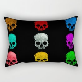 Skull colors Rectangular Pillow