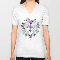 kris tate V-neck T-shirts featuring HONIAHAKA by Kyle Naylor and Kris Tate by Kyle Naylor