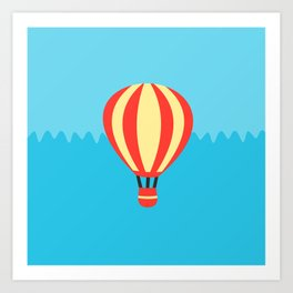 Classic Red and Yellow Hot Air Balloon Art Print
