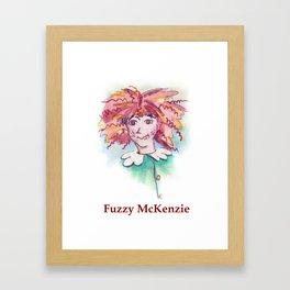 Fuzzy McKenzie Framed Art Print