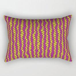 Yellow and Pink Rough Weave Rectangular Pillow