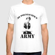 Jo Polniaczek's Army MEDIUM White Mens Fitted Tee