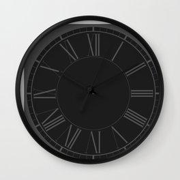 Garden Sludge Grey in an English Country Garden Wall Clock