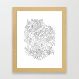 City and the junge Framed Art Print