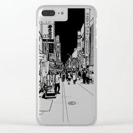 Shinjuku, Tokyo Clear iPhone Case