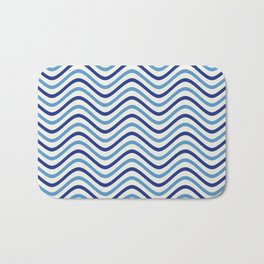 The Wave:  Blue + Turquoise Bath Mat
