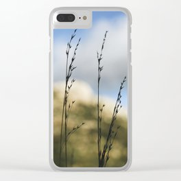 Grass Silhouettes Clear iPhone Case