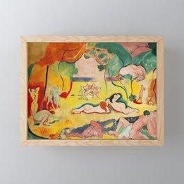 Henri Matisse - Le bonheur de Vivre (The Joy of Life) portrait painting Framed Mini Art Print