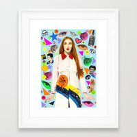 sansa stark Framed Art Prints featuring Sansa by Neon Wonderland