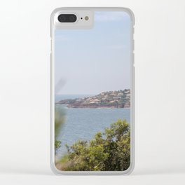 Chilling at the Cote d'Azur Clear iPhone Case