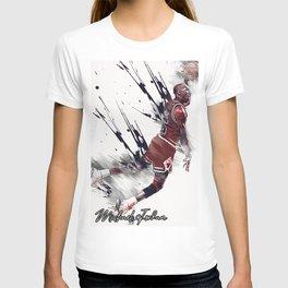 basketball player art 14 T-shirt