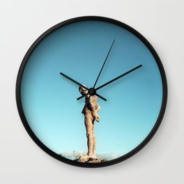 Lonely old man Wall Clock