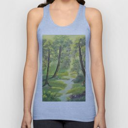Happy forest with animals Unisex Tank Top