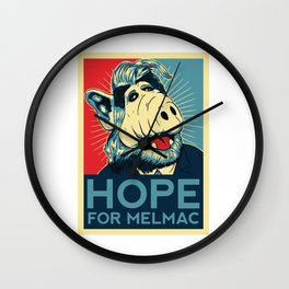 Hope For Melmac, Obama Yes We Can Parody With Alf Alien, Original Design T-Shirt, tshirt, tee, jerse Wall Clock