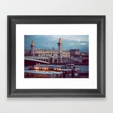 Paris lights. Framed Art Print