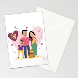 Personalized Illustratiom for Fathers Day Stationery Cards