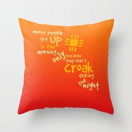 Croak-Orange Throw Pillow