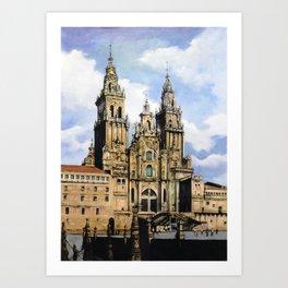 Catedral de Santiago de Compostela/Santiago de Compostela Cathedral Art Print