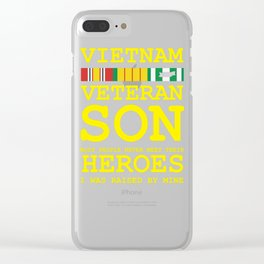 Vietnam Veteran Son Gift for Veteran's Day product Clear iPhone Case