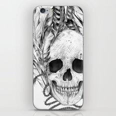 SKULL FEATHER iPhone & iPod Skin