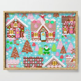 Gingerbread House Christmas  Xmas Holiday Gingerbread Man, ladies & kids Gingerbread Serving Tray