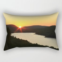 Sunrise over Lake of the Clouds Rectangular Pillow