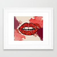 lip Framed Art Prints featuring Lip by nafrodrigues