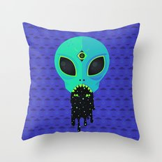 Alien Flu Throw Pillow