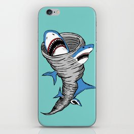 Shark Tornado iPhone Skin