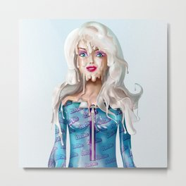 Barb Doll Metal Print