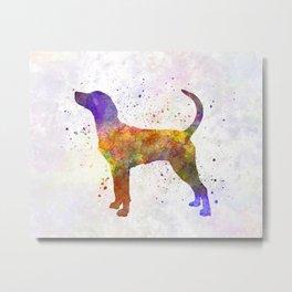 English Foxhound in watercolor Metal Print