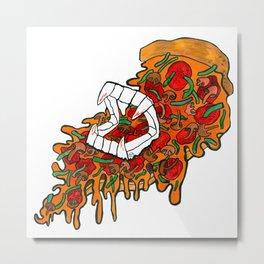 Vampire Pizza Metal Print
