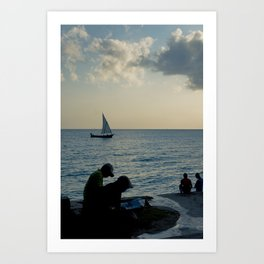 The Evening News Art Print