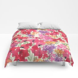 Big Red Poppy Patch Comforters