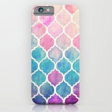 Rainbow Pastel Watercolor Moroccan Pattern iPhone 6 Slim Case