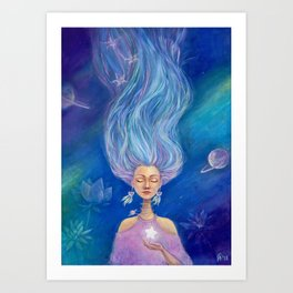 The Silence of  the Starry Sky Art Print