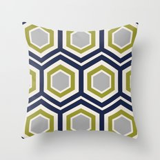 Hexagons and Zigzags Throw Pillow